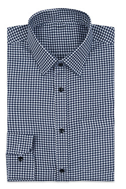 White Navy Check Shirt