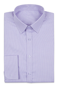Purple Mini Checks Shirt